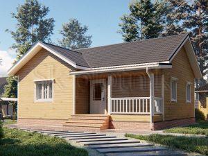 Дом из бруса 8,5х10 Д-97