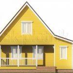 Каркасный дом 7,5х8 с мансардой ДК-111. Миниатюра №1