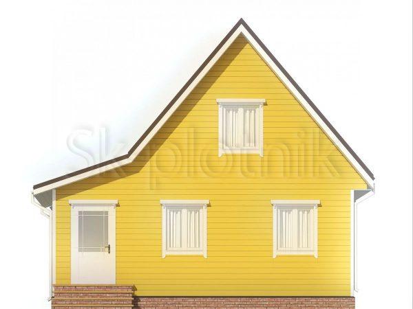 Каркасный дом 7,5х8 с мансардой ДК-111. Картинка №1