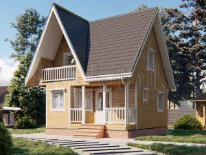 Дом из бруса 7х7 Д-114
