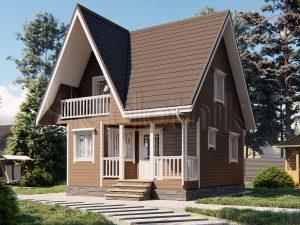 Каркасный дом 7х7 ДК-114