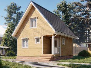 Дом из бруса 6х7 Д-107