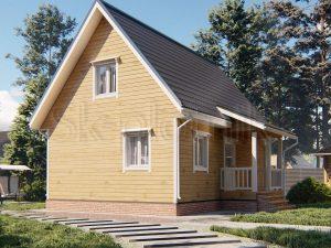 Дом из бруса 6х9 Д-109
