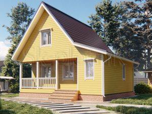 Каркасный дом 7,5х8 ДК-111