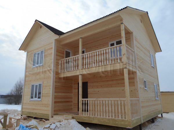 Дом из бруса — Калужская область, г. Калуга, д. Шопино