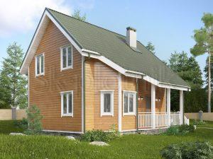 Дом из бруса 7.5х8 Д-116