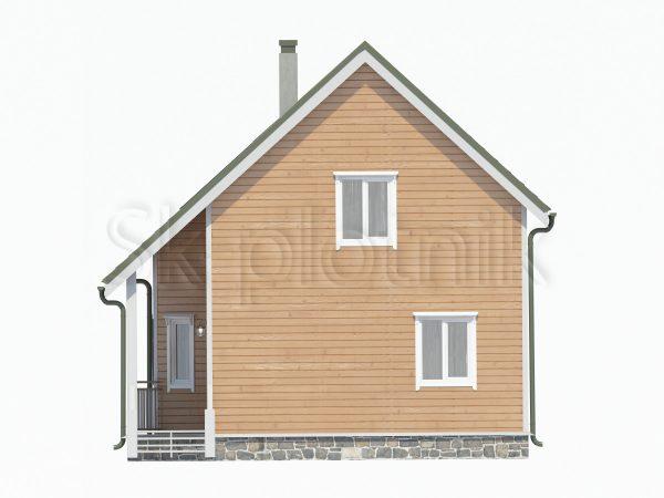 Дом из бруса 7.5х8 Д-116. Картинка №1
